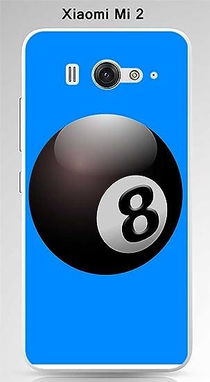 Onozo Carcasa Xiaomi Mi 2 diseño Bola de Billar N ° 8 Puerta ...