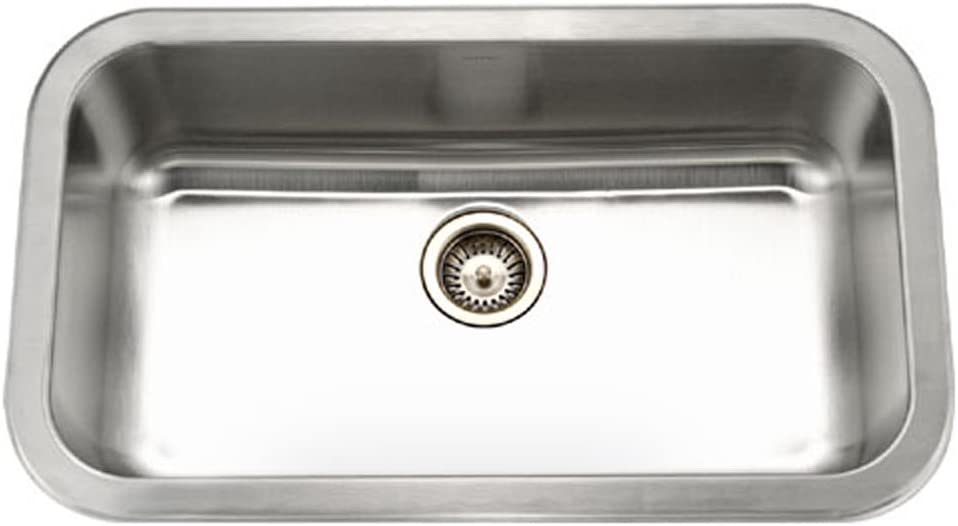 Houzer MGS-3018-1 Medallion Gourmet Series Undermount Stainless Steel Large Single Bowl Kitchen Sink
