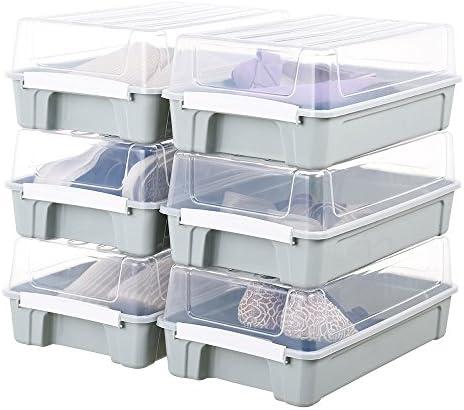 Impr3.Tree - Organizador de Zapatos para Debajo de la Cama, Caja de Almacenamiento para Armario, Botas, Cubo de Basura, 6 Unidades: Amazon.es: Hogar