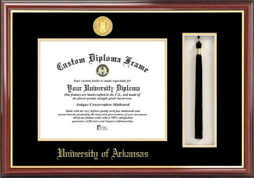 (Campus Images NCAA Arkansas Razorbacks Tassel Box and Diploma Frame)