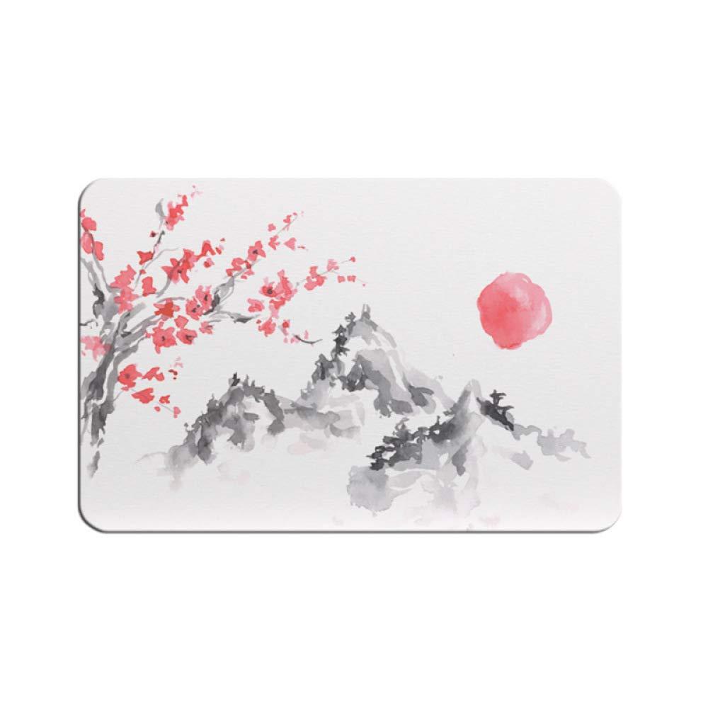 PLLP Diatomaceous Earth Absorbent Pad, Bathroom Bathroom Door Mat Quick-Drying Bathroom Mat, Japanese Style Diatom Mud Mat,A,3545CM