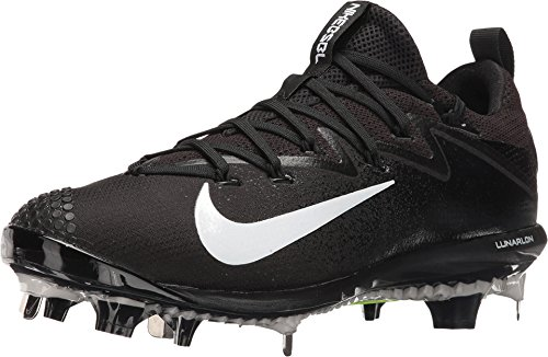 Nike Men's Lunar Vapor Ultrafly Elite Baseball Cleat (10 M US, Black/White/Black)