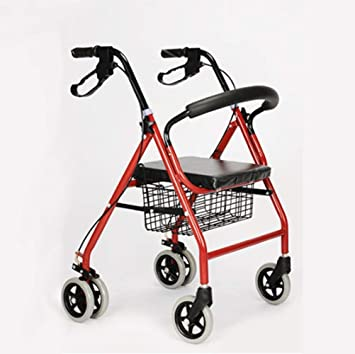 HJW Ayuda para Caminar Ligero Plegable Ajustable Walker Conducción ...