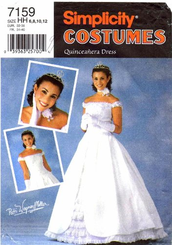 2000 Quinceanera Dress - Simplicity 7159 Sewing Pattern Quinceanera Dress Dance Costume Size 6 - 8 - 10 - 12