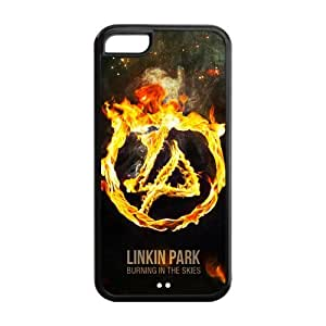 5C Case, iPhone 5C Case - Fashion Style New Linkin Park Painted Pattern TPU Soft Cover Case for iPhone 5C (Black/white)