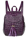 PIJUSHI Leather Backpack For Women Crocodile Bags Fashion Casual Backpack Purses (B66810 violet)