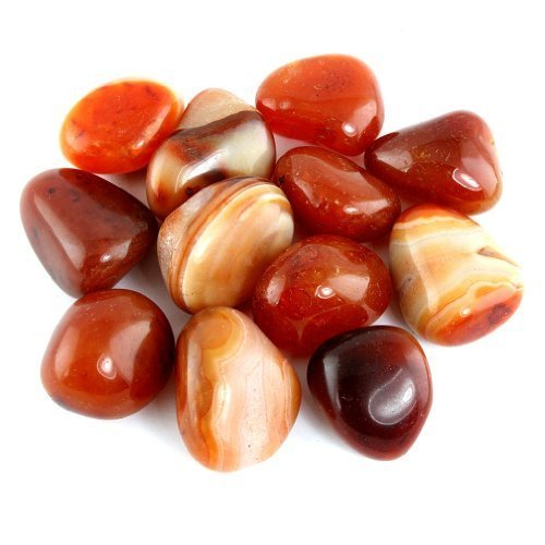 Polished Stone Crystal (Crystal Allies Materials: 1lb Tumbled Carnelian Stones from Brazil)