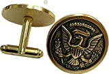 Designer Antique GOLD Donald Trump Eagle Coin Presidential Cuff Links