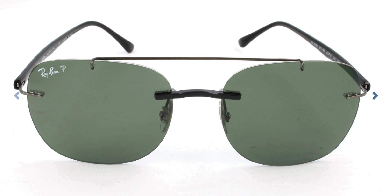 Ray-Ban Men's Injected Man Sunglass Polarized Square, BLACK, 55 mm