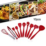 Dinnerware Sets - 10pcs Home Silicone Cooking Utensil Spatula Ladle Mixture Clamp Brush - Oven Orange Deer 16 Unbreakable Sale Rustic Dishes Denby Lightweight