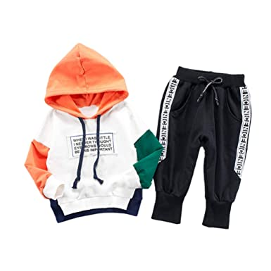 d307e46557d Gyratedream Boys Hoodie Pants 2Pcs Clothes Set Kids Tracksuits Hooded  Sweatshirt + Trousers Age 0-4 Years: Amazon.co.uk: Clothing