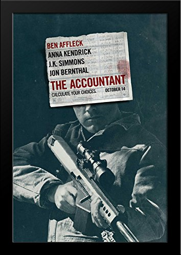 The Accountant 28x36 Large Black Wood Framed Movie Poster Art Print by ArtDirect