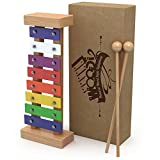 Musical Instruments Best Deals - Glockenspiel Xylophone for Kids: Best for Your Little Musician - Create Magical Sounds with Little Hands; A Percussion Instrument with Multi-Colored Metal Keys and Two Child-Safe Wooden Mallets