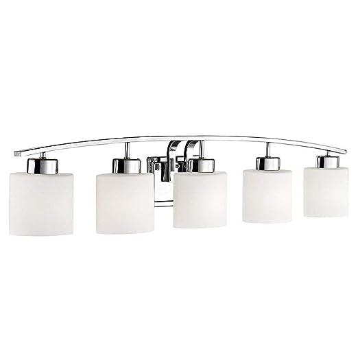Amazon.com: Cuarto de baño lámpara de pared con óvalo blanco ...