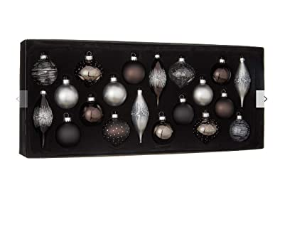 John Lewis Christmas Tree Themes.John Lewis Jet Assorted Baubles Box Of 20 Black Multi
