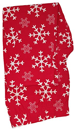 No Boundaries Christmas White Snowflakes Red Ankle Legging - Medium from No Boundaries
