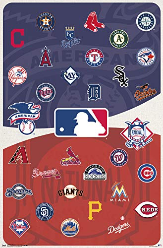 Trends International MLB - Logos Wall Poster, 22.375