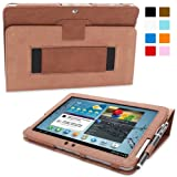 Galaxy Tab 2 10.1 Case, Snugg - Brown Leather Smart Case Cover Samsung Galaxy Tab 2 10.1 Protective Flip Stand Cover with Auto Wake / Sleep