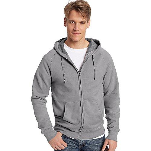 Hanes by Men Nano Premium Lightweight Full Zip Hoodie_Vintag