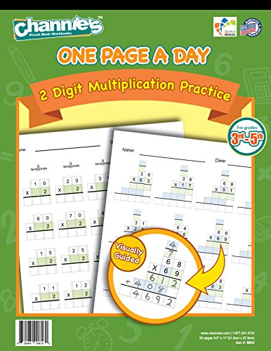 One Page A Day 2 Digit Multiplication Practice Workbook for 3-5th Grades