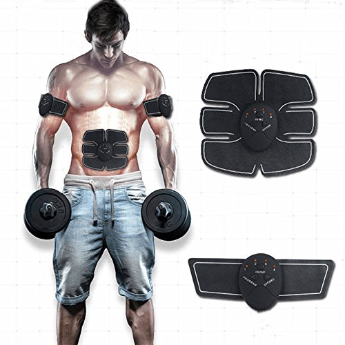 Abdominal Muscle Toner, Waist Trimmer Belt, ABS Stimulator Portable Ultimate Unisex Massage Toning Belt for Abdomen/Arm/Leg Training by KEQI