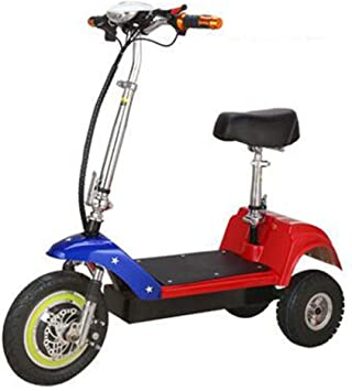 SZPDD Bicicleta eléctrica Plegable de 3 Ruedas E-Bike (12 Pulgadas Delantera, 10 Pulgadas Trasera) Batería de Litio 10A Mini portátil Plegable rápido,colorD: Amazon.es: Deportes y aire libre