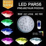 PROJECTEUR PISCINE 35W COULEUR RGB 441 LEDS