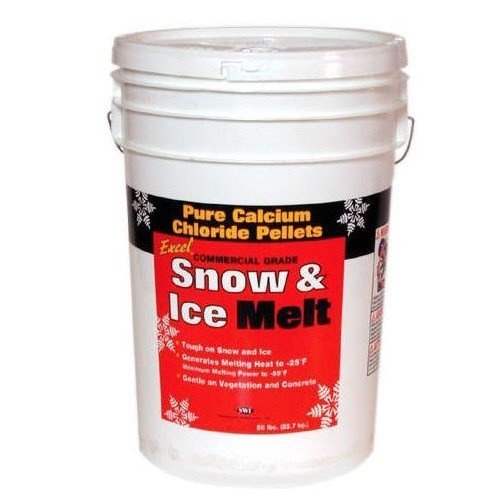 Excel Snow & Ice Melt Commercial Grade Pure Calcium Chloride Pellets, 50 lb ()