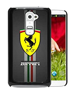 Individualization Ferrari logo Black Special Custom Made LG G2 Cover Case