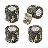 EKIND Multi-functional Self-adhesive Protective Camouflage Stealth Waterproof Tape Wrap (ACU Camouflage, Pack of 4)