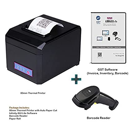Amazonin Buy Infinity Infocom Mm Thermal Printer Barcode Reader - Barcode scanner invoice software