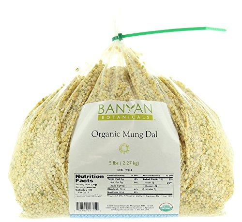 Banyan Botanicals Yellow Mung Dal - USDA Organic - Non GMO - Ayurvedic Food for Kitchari & Cleansing, 5 lbs