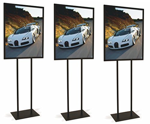 Black Bulletin 22''W x 28''H Sign Holder (Set of 3)
