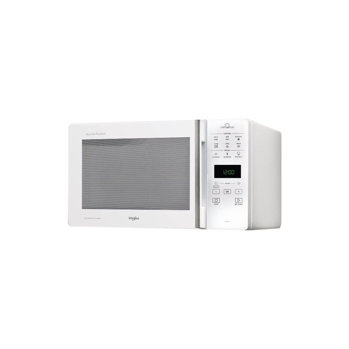 Whirlpool - mcp349/1WH - Microondas + Grill 25L 800 W color blanco ...