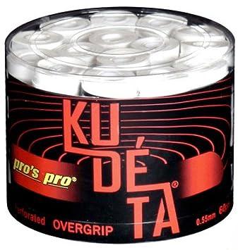 60 Overgrip Kudeta Tape blanco tennis grips Cinta para mango de raqueta de tenis: Amazon.es: Deportes y aire libre