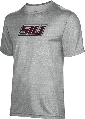 Spectrum Sublimation Southern Illinois University Unisex Poly Cotton Tee FCE21 Maroon and Black