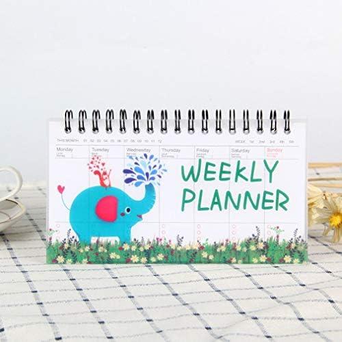Tischkalender Kalendarien Koreanisches Briefpapier Notebook Cartoon Tiere Zerreißen Wochenplan Zeitplan Buch Studenten Tragbare Coil-Book (Color : Brown)
