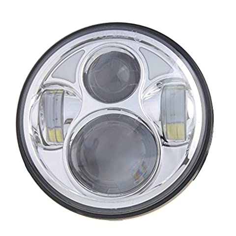 Ohmotor 5.75 Inch Round LED Daymaker Motorcycle Headlight Lamp Bulb Cree LED Projector Hi/Lo Beam Headlamp for Harley Davidson Motorcycle - Motorcycles Neon Clock