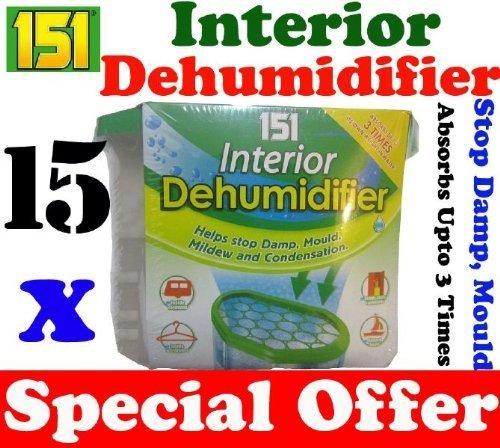 15 x Interior Portable Dehumidifier / De Humidifier Stop Moisture Damp Remover Mould Mildew Condensation Air Freshner Caravan Car Boat Home Office by NA