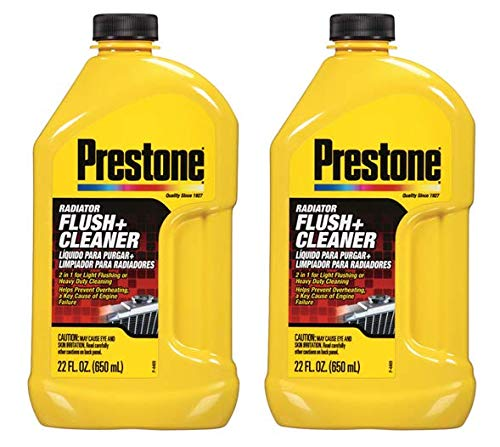 Flush Cooling System (Prestone AS105 Radiator Flush and Cleaner - 22 oz. - 2 Pack)