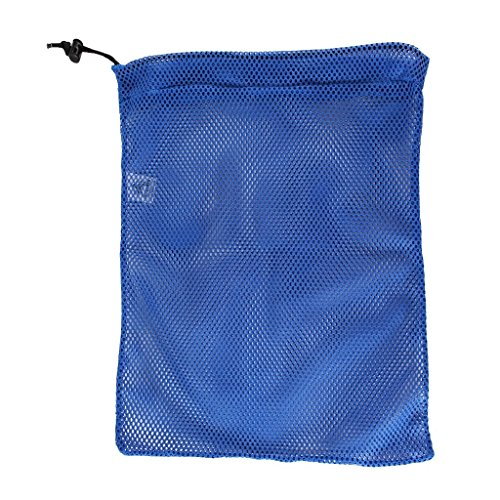 SGT KNOTS Mesh Bag USA Made (Small) 550 Paracord Drawstring Bag - Ventilated Washable Reusable Stuff Sack for Laundry, Gym Clothes, Swimming, Camping, Diving (12 inch x 15 inch - Royal Blue)
