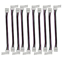Mr.Geeker 10 Pcs 4 Pin RGB 5050 LED Light Strip to Strip Quick Coupler Connector 10MM