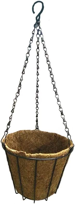 HXHON H/ängekorb Kokospalme Blumenkorb Moos H/ängekorb Runde Pflanzenhalter Veranda Dekor H/ängeblument/öpfe Hausgartendekoration Bew/ässerung H/ängek/örbe 1pcs, 8inch