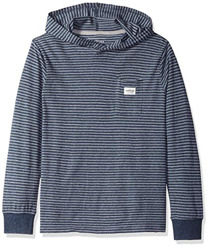 Quiksilver Boys' Big ZERMET Hoodie Youth Hooded Shirt, Dark Denim, M/12