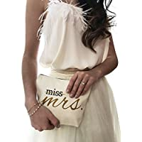 Miss to Mrs Canvas Makeup Bag Bride Gift Make Up Pouch Cosmetic Pouch Cosmetic Bag Makeup Organizer Bride To Be Gift Bridal Shower Gift