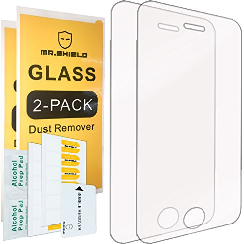 [2-PACK]-Mr Shield For iPhone 3G / 3GS [Tempered Glass] Screen Protector with Lifetime Replacement Warranty (3g Screen Clear Iphone)