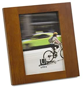 Umbra Simple 5-inch-by-7-Inch Wood Frame, Chestnut