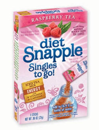 Snapple Diet Singles To Go Tea, Raspberry, 6-Count (Pack of 6)