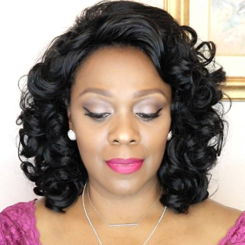 Mersi Wigs for Black Women Aferican American Wigs Short Curly Wigs Afro Kinkys Wig Synthetic Hair Wigs with Wig Cap S005