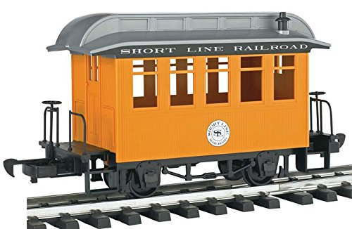 Bachmann Industries Li'l Big Haulers Coach G-Scale Short Line Railroad with Yellow/Silver Roof, Large from Bachmann Trains